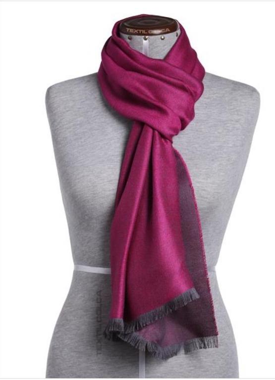 Schal Double Face Silk Fucsia